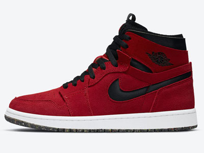 Air Jordan 1 High Zoom黑红配色翻毛皮版本球鞋曝光