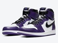 "Air Jordan 1 High OG ""Court Purple""黑白紫配色来了"