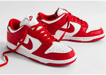 "Nike Dunk Low ""University Red""红白配色即将发售"