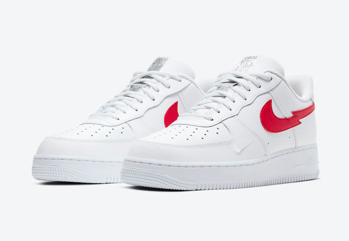 "2020年Nike Air Force 1 Low ""Euro Tour""闪电式LOGO板鞋图片"