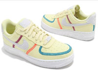 Nike air Force 1全新淡黄配色帆布面明线鞋款曝光