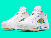 "新款Air Jordan 5 Golf ""Tie Dye""鞋款曝光"