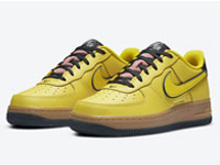 Nike Air Force 1 Low GS黄粉配色鞋款曝光