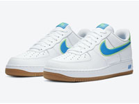 Nike Air Force 1 Low湖水蓝荔枝纹LOGO鞋款曝光