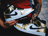 "Air Jordan 1 Mid ""Metallic Gold""金属色球鞋10月发售"