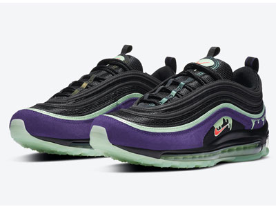 "Nike Air Max 97 ""Halloween""鞋款全新黑绿紫配色曝光"