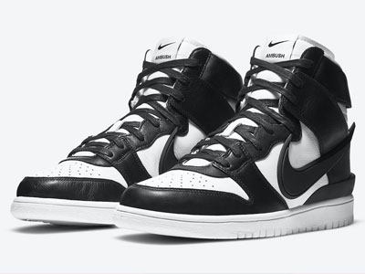 AMBUSH和Nike Dunk High全新黑白配色联名鞋曝光