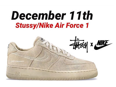 Stüssy与Nike Air Force 1联名鞋即将发售