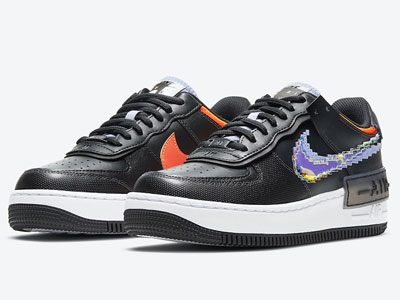 "全新Nike Air Force 1 Shadow ""Pixel""像素LOGO鞋款曝光"