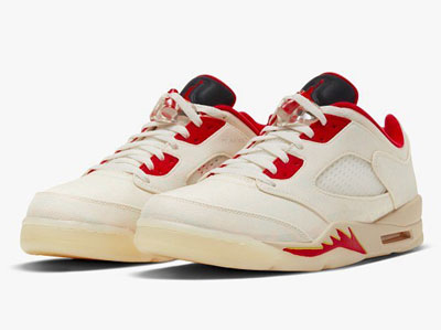 2021全新Air Jordan 5 Low「CNY」中国新年配色球鞋曝光