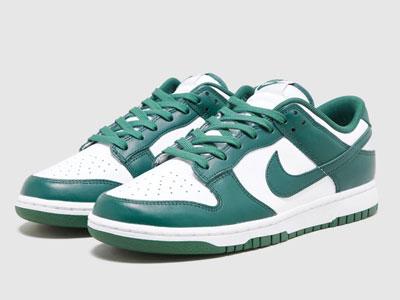 全新的Nike Dunk Low「Team Green」白绿配色4月发售