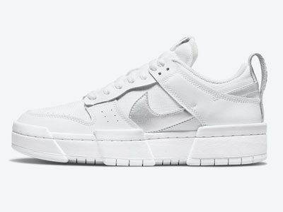 全新Nike Dunk Low Disrupt白色银LOGO低帮板鞋曝光