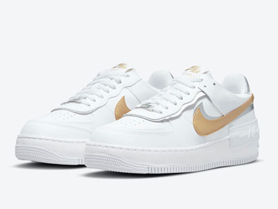 "全新Nike Air Force 1 Shadow""White Gold""白金配色曝光"