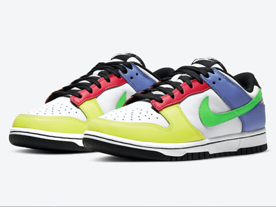 "花哨的Nike Dunk Low WMNS ""Green Strike""多色拼接绿LOGO曝光"