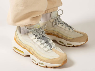 "全新Nike Air Max 95""Coconut Milk""奶白卡其拼色海外发售"
